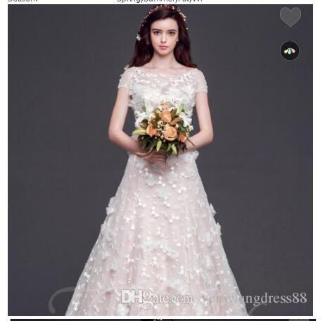 Кихол назад суд Поезд Цветы Аппликация Бисероплетение платье принцессы Свадьба