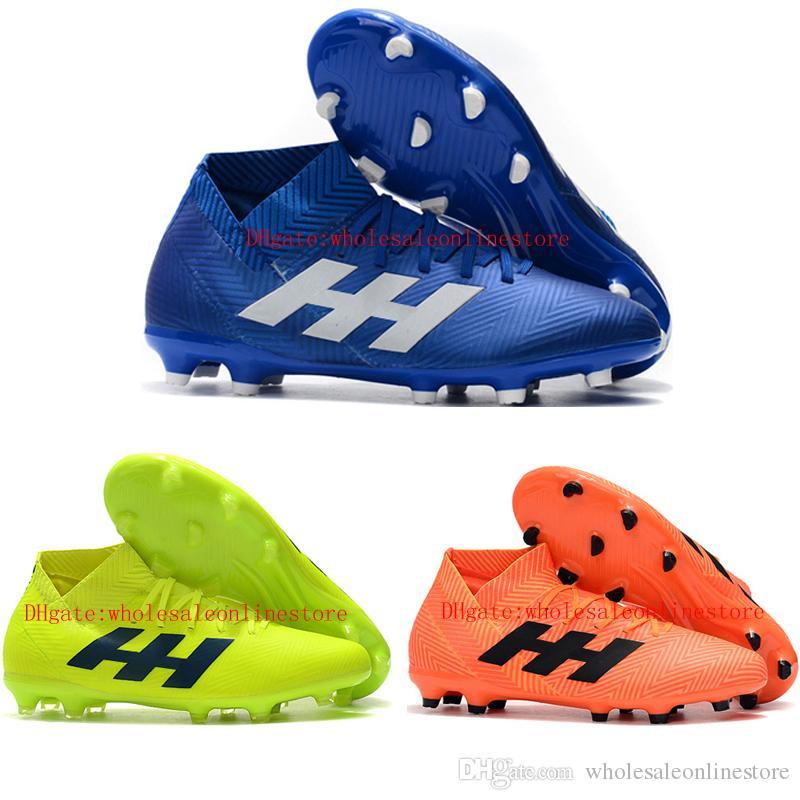 Zapatillas de fútbol para hombre 2019 Nemeziz 18.3 FG botines de fútbol de cuero Nemeziz messi 18 botas de fútbol new scarpe da calcio