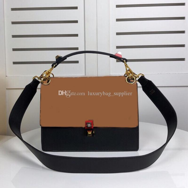 حقائب فام محفظة CROSSBODY حقيبة أزياء منقوش إزالة الأشرطة المعدنية اكسسوارات صدفي حقيبة يد جلدية حقيقية رسالة كاملة