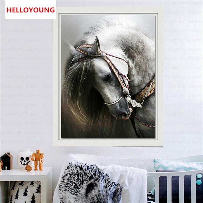 Promoção DIY 5D diamante bordado Horse Round diamante Pintura Cross Stitch Kits Mosaico Pintura Decoração