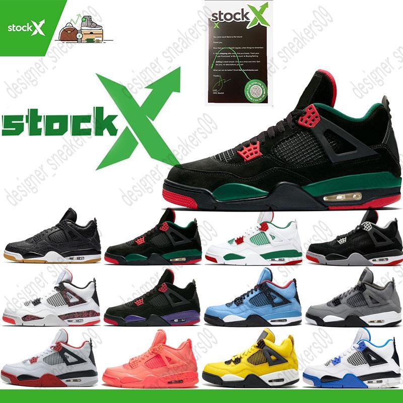 Tiger Camo Neon Fiba Silt Red Splatter 4S Jumpman basketball shoes men bred cool grey stealth oreo white cement Men designers Shoes