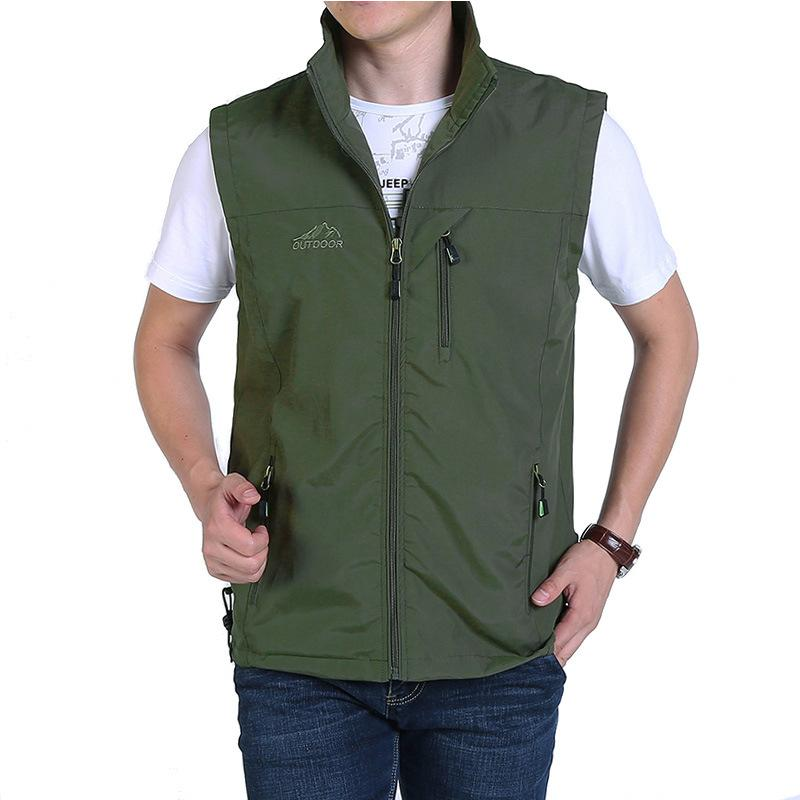 Mens Sleeveless Jacket Waistcoat Travels Sports Multiple Pockets Gilet Outdoor Fishing Photography Work Casual Vest Jacket