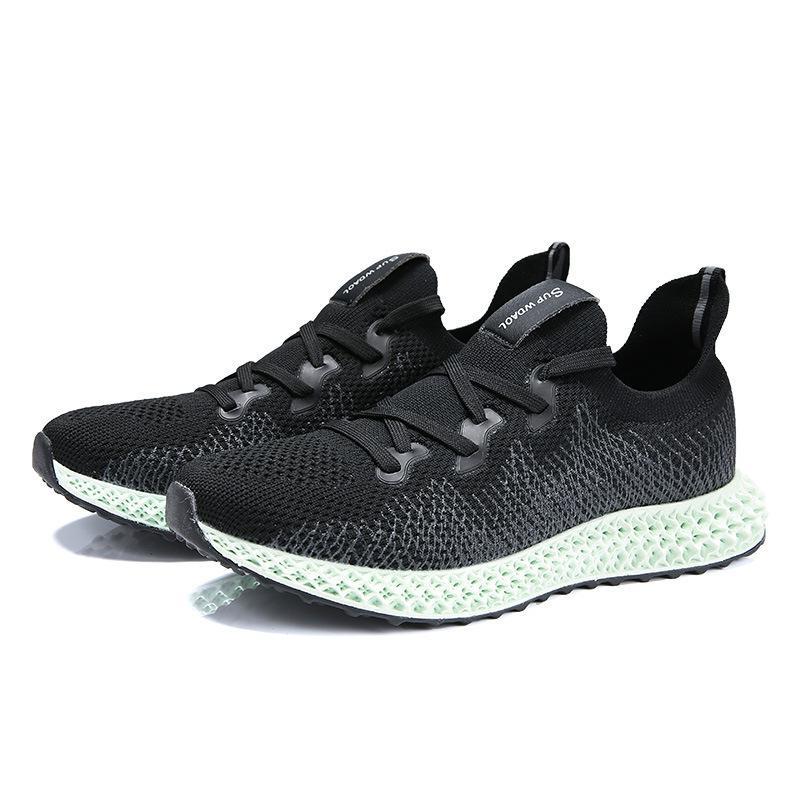 Compre 2019 Cross Border Hombre Zapatillas De Deporte Primavera Nuevo Patrón Mosca Tela Ventilación Tiempo Libre 4d Imprimir Calzado Para Correr A