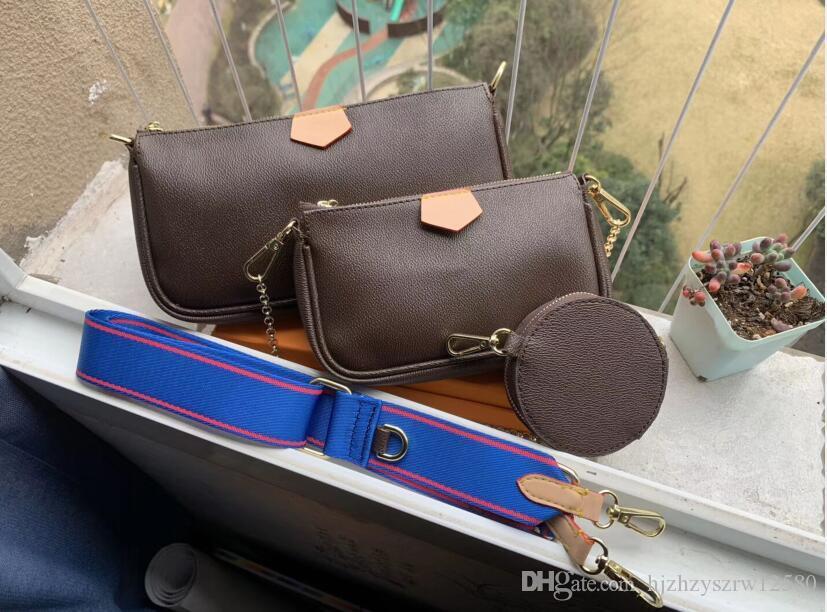 2020 أفضل أكياس الهاتف حقيبة يد حقيبة يد بيع الكتف مصمم الأزياء حقيبة يد حقيبة محفظة ثلاث قطع أكياس الجمع 3395