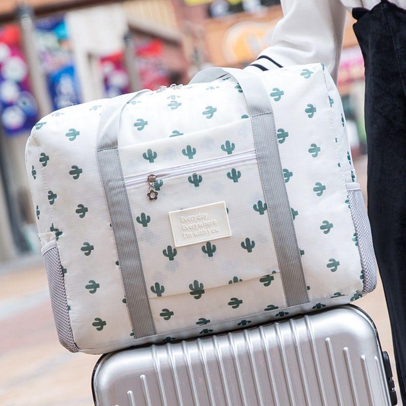 لا تفوت للطي حقيبة السفر المحمولة مكعبات التعبئة سعة كبيرة حقيبة الملابس أكياس ماء الرجال حقيبة منظم حقيبة
