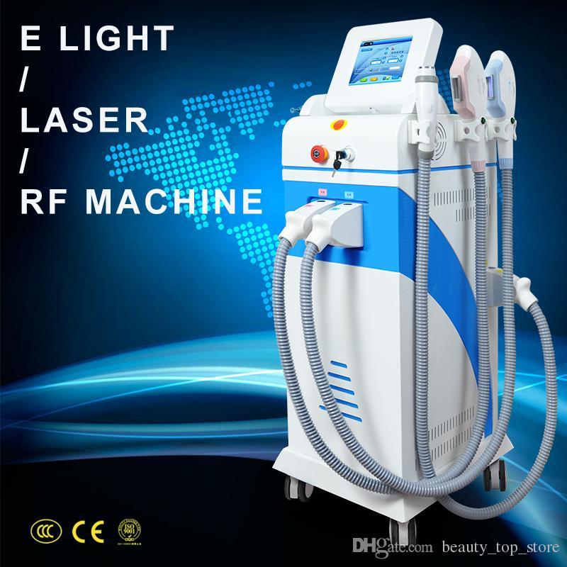 Multifunction Strong Energy SHR OPT IPL Laser Hair Removal ND YAG Laser Tattoo Removal Beauty Machine IPL&RF & ND YAG&E-light