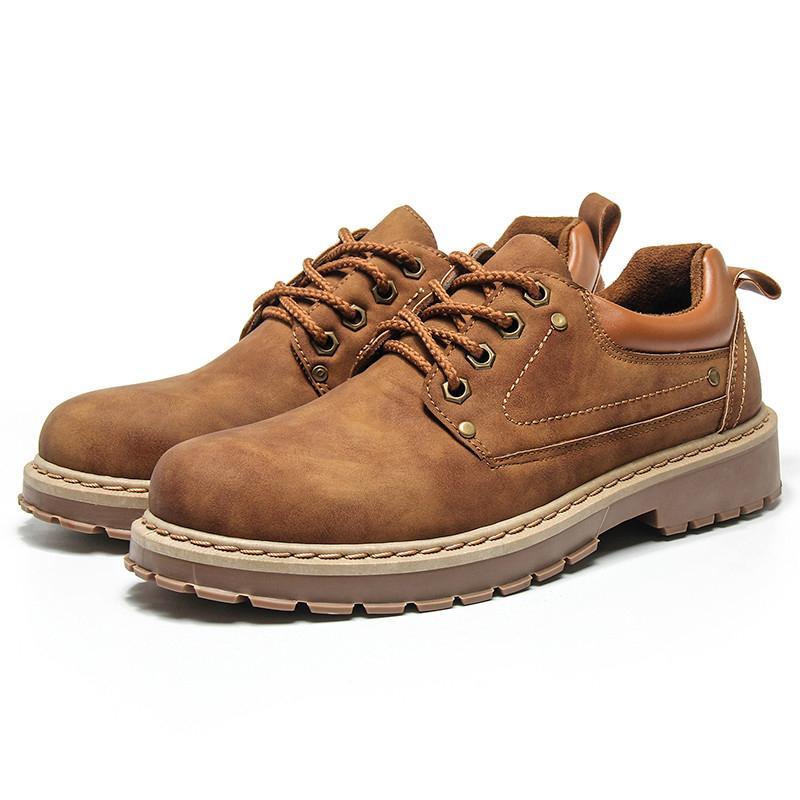 الرجال أحذية جلدية الرجال عادية مارتنز أحذية جلدية أحذية سلامة العمل الشتاء الكاحل ماء