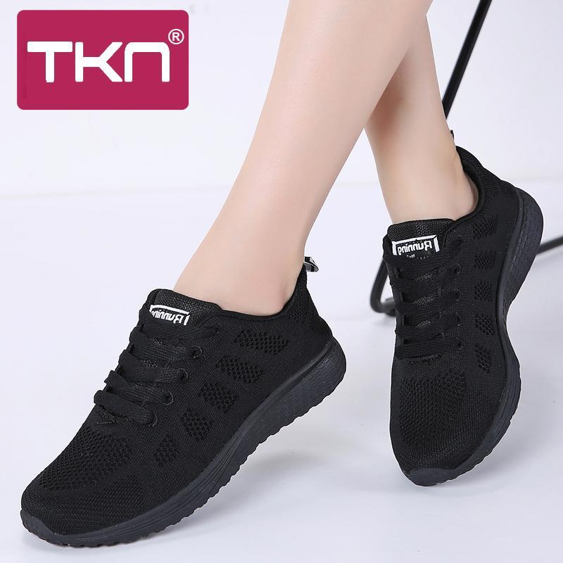 NTK Sneakers femmes chaussures plates femmes 2019 automne occasionnels lacets baskets en mesh respirant dames chaussures femmes chaussures de marche A08 S20326