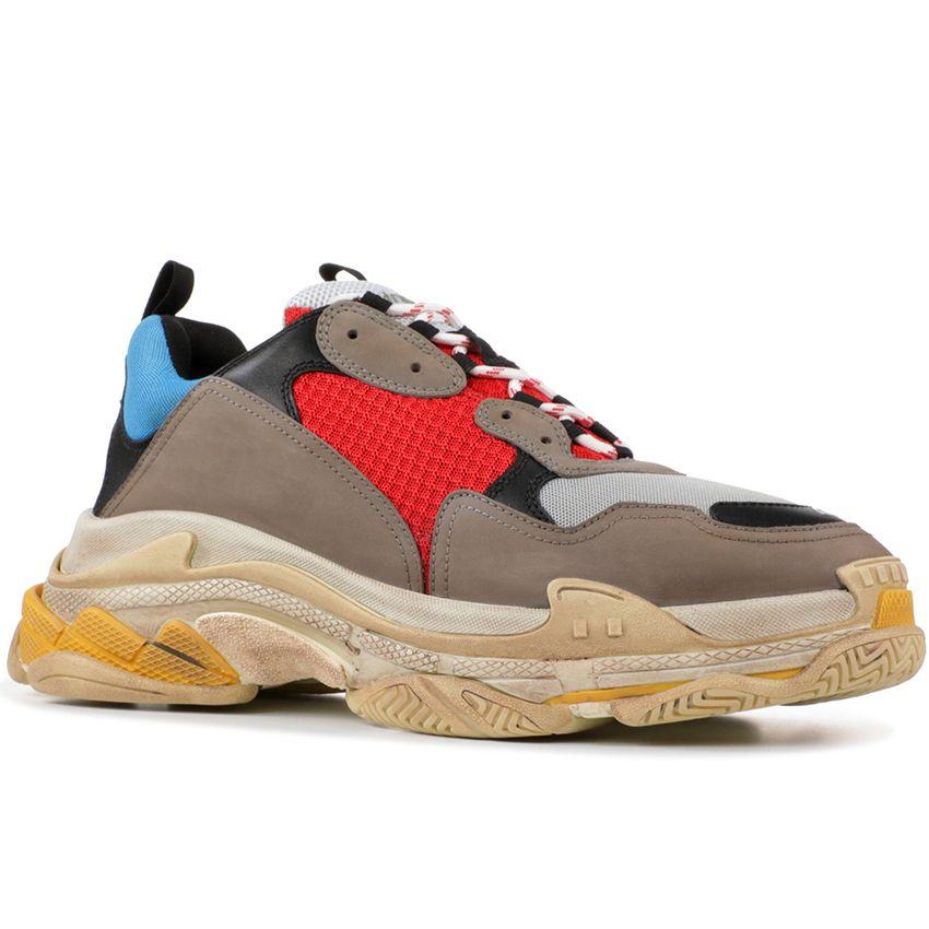 Paris 17FW Triple-S Sneaker Triple S Casual Dad Shoes for Men Women Beige Black Pink Cheap Mens Sports Zapatos des Chaussures