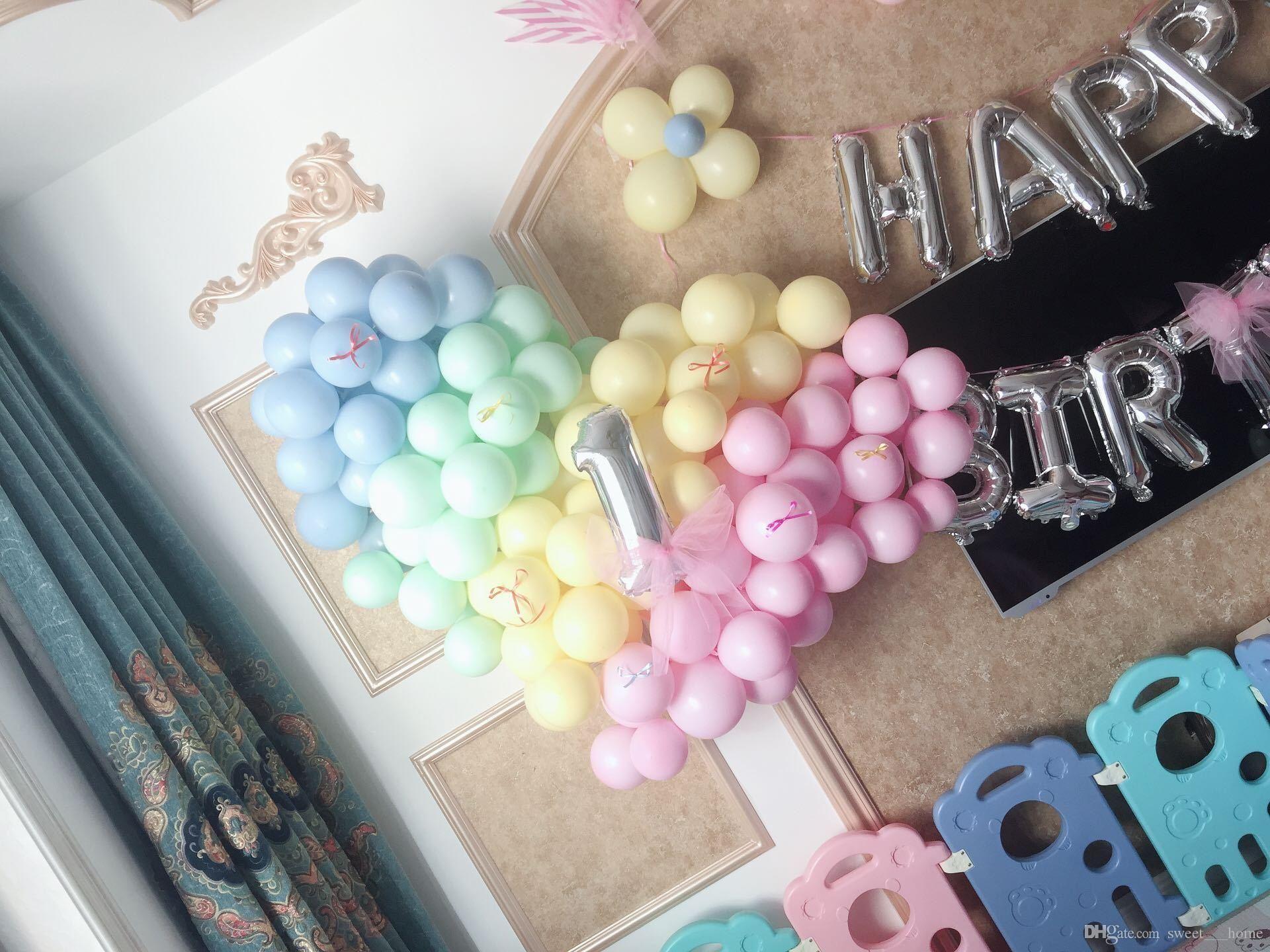 Proposta dia quente dos Namorados Festa de aniversário do balão Macaron criativo decorações de casamento Doces coloridos balões de látex Props DHL