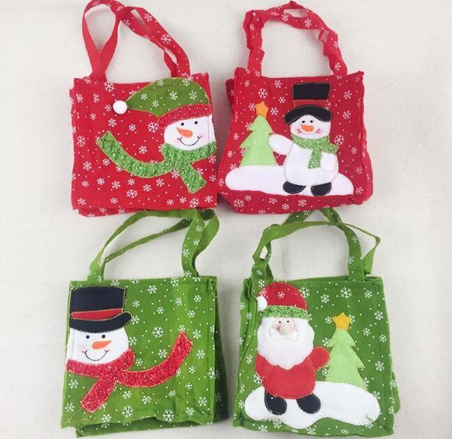 Рождественский подарок конфеты сумки Санта-Клауса конфеты сумка сумки Главная партия украшения Xmas Kids мешок подарков