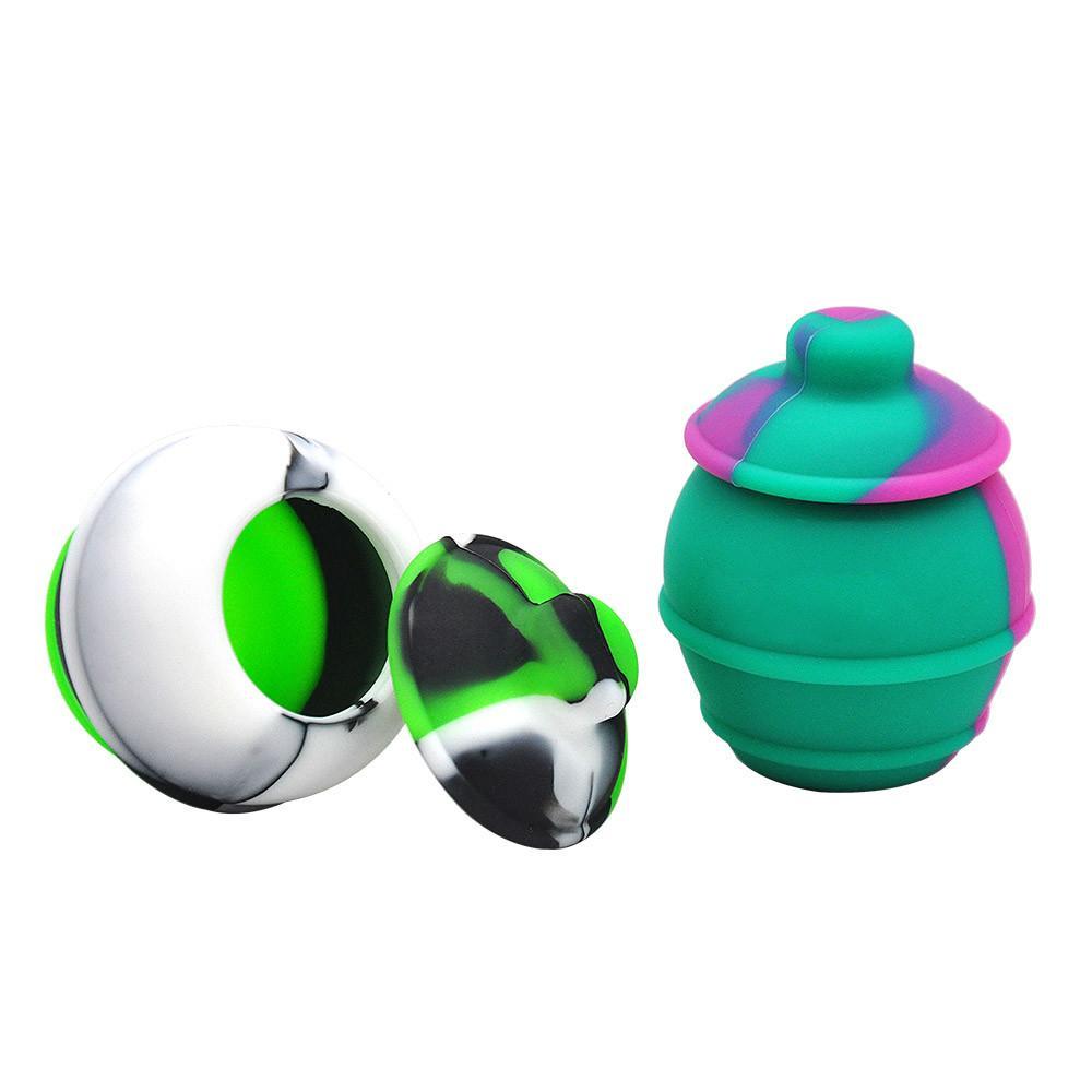 35ml Contenants en silicone Bocaux Cire Cire Dab Concentré Cire Coussine Côter Jar Huile Concentré Conteneur Multi usage Mélange Couleur