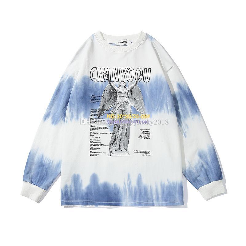 Pull Version coréenne Men Of The Hip Hop Marque Tide Gradient Tie Cravate Tendance rétro épaule en vrac shirt Lovers 11