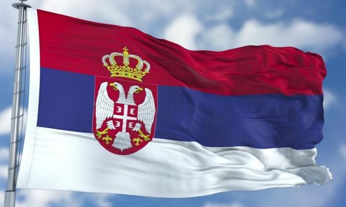 Сербия Флаг 90x150 см шелкография полиэстер Дешевые Сербская Страна Национальные флаги с двумя Проушины, бесплатная доставка