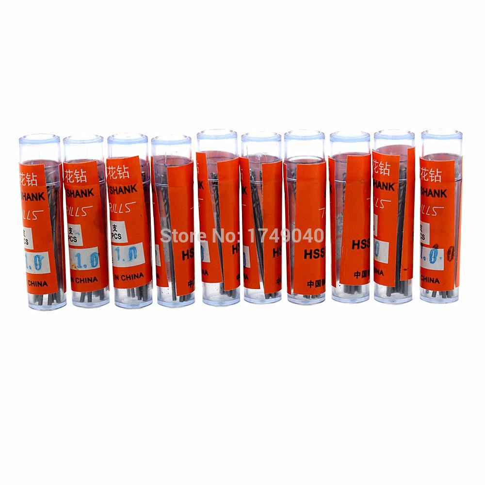 100pcs Twist Drill Bit 1mm 0.8mm 0.6mm Straight Shank High Speed Steel Micro Hss Drill Bits Set Woodworking Drills PCB Drilling