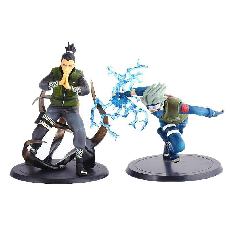 2020 cartoon Anime Naruto Nara Shikamaru Hatake Kakashi Pvc Action Figures Toys size in 18cm Z0695