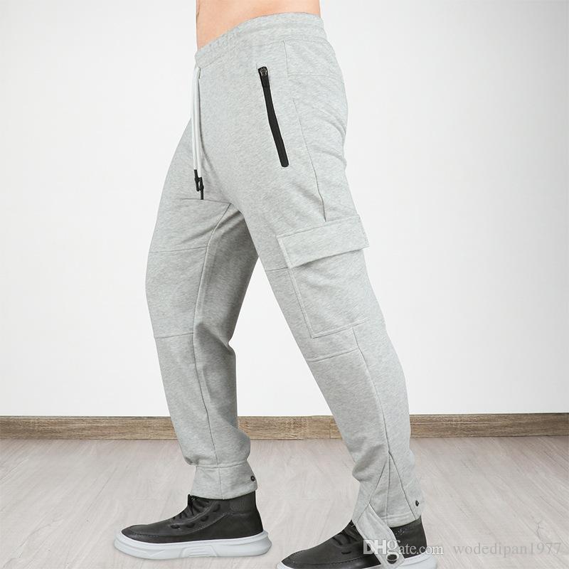 Pantaloni casual da uomo allentato Jogger fitness lunghi per i ragazzi Nuove coulisse tasca Sport Allenamento Pantaloni sportivi pantaloni correnti