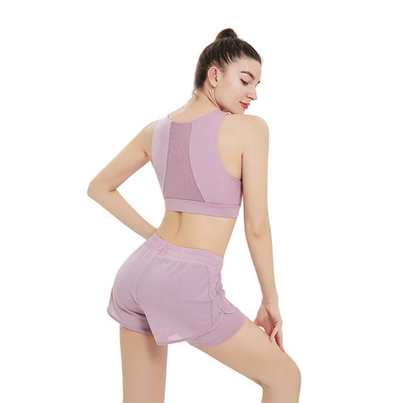 2020 estate nuova garza bicchierini della maglia Yoga Abbigliamento, Moda Reggiseno sportivo, palestra Running Training Yoga Pantaloncini fitness da 2 piece set