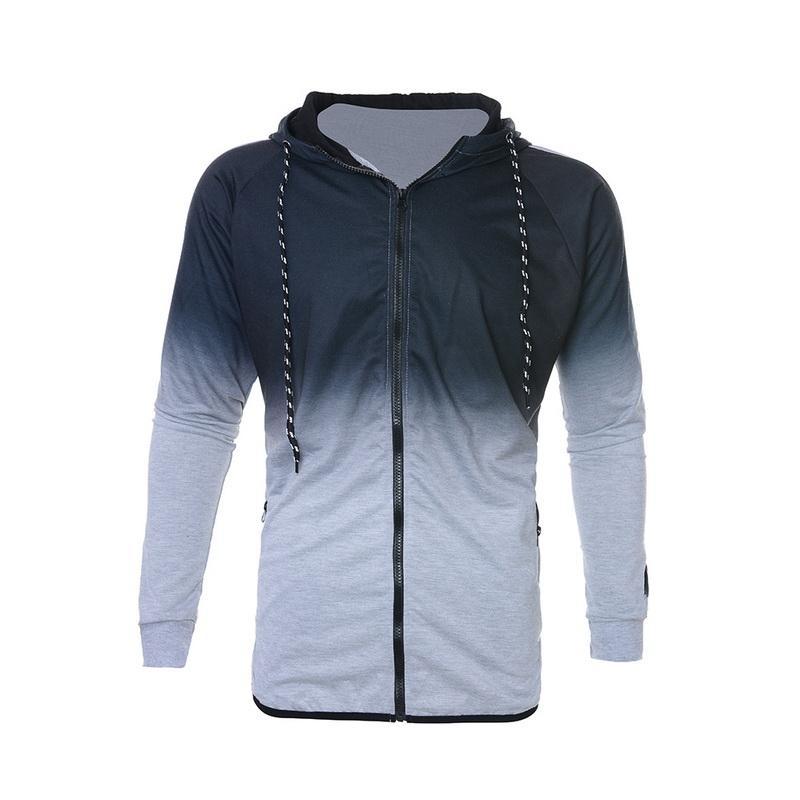 Спортивная одежда спортивные спортивные штаны моды PCS 2 комплекта Heflashor Hoodie Gradient Suit Mens Joggers повседневные куртки печатать пружинный костюм Esgui
