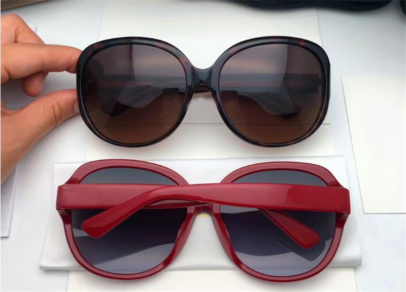 Luxury-New fashion designer occhiali da sole ovale classico telaio casual semplice sezione superiore protezione esterna occhiali con scatola originale0080