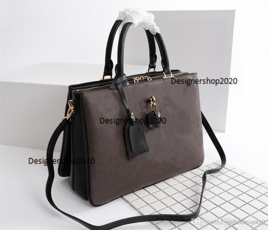 La manera de lujo MILHOJAS mujeres de los bolsos de totalizadores de la manera de los bolsos del diseñador mujeres de la marca de totalizadores bolsas de tamaño 33 x 23 x 11 cm modelo M44254