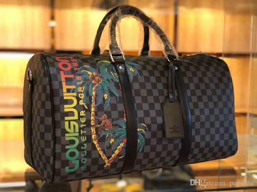 الرجال النساء المألوف حقائب السفر المحمولة سعة كبيرة حقيبة الأمتعة التدريب حقيبة نهاية الأسبوع القماش الخشن bolso موهير غراندي أكياس التسوق حمل