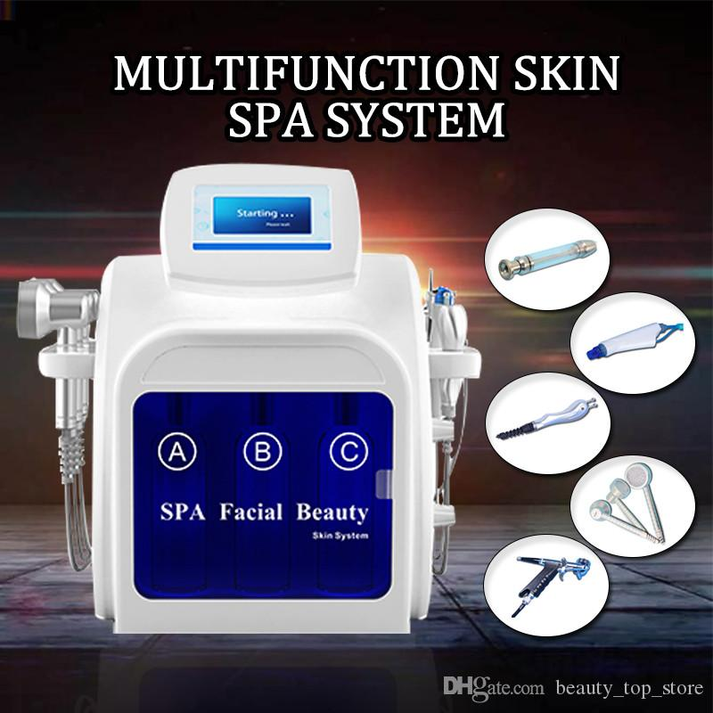 5 in1 Hydra Dermabrasion Aqua Peel RF Bio-lifting Spa Facial Hydro Eau Microdermabrasion Faciale Machine À Froid Froid Spray D'oxygène