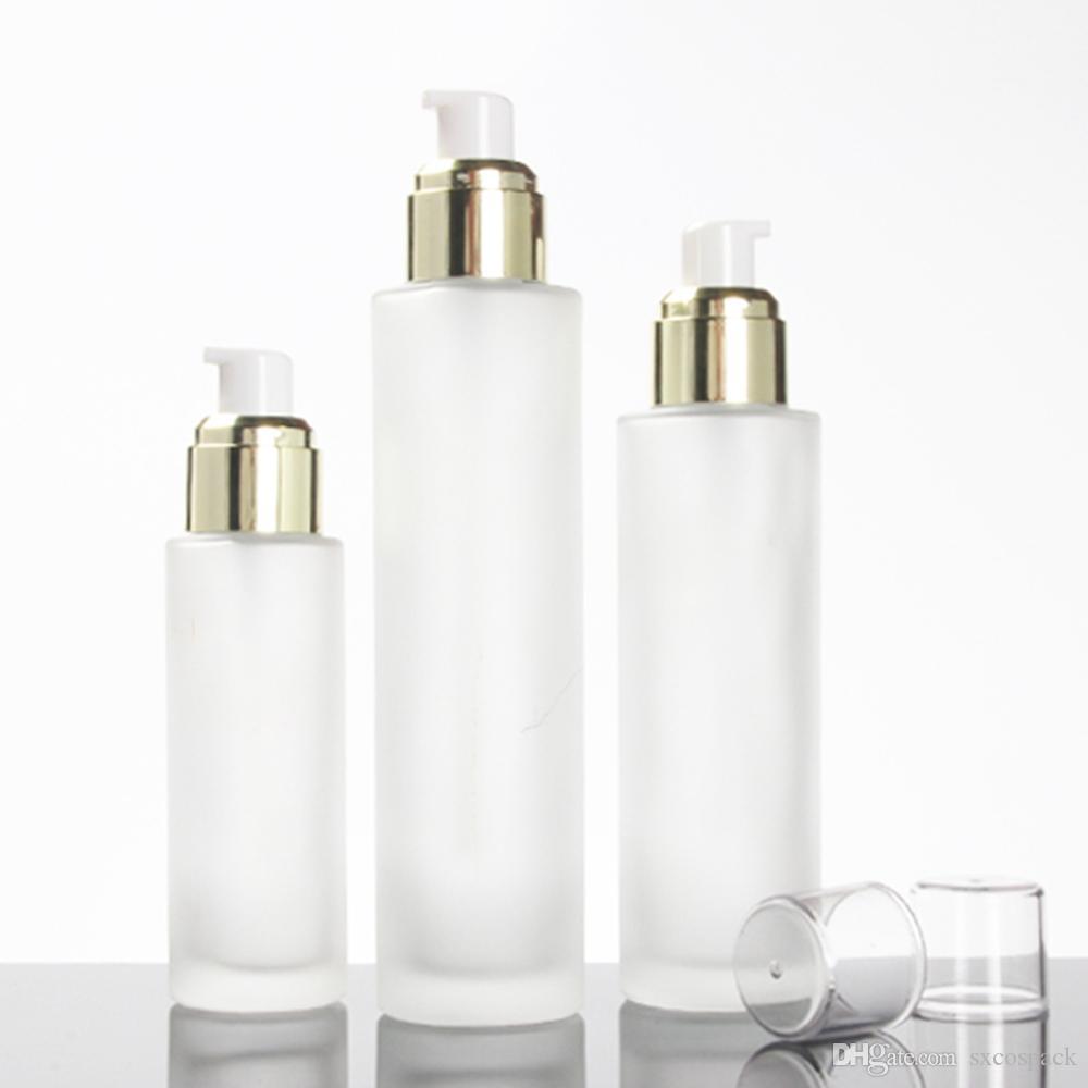 bottiglia di vetro olio essenziale di alta qualità di viaggio per 40 ml di profumo, bottiglie di vetro lozione crema con pompa in vendita