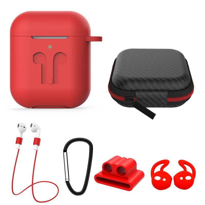 Ecouteur Pour Apple AirPod 1/2 3PRO Casques silicone Charging cas boucle en métal + Longe + Housse + Earmuffs + Sac pour AirPod