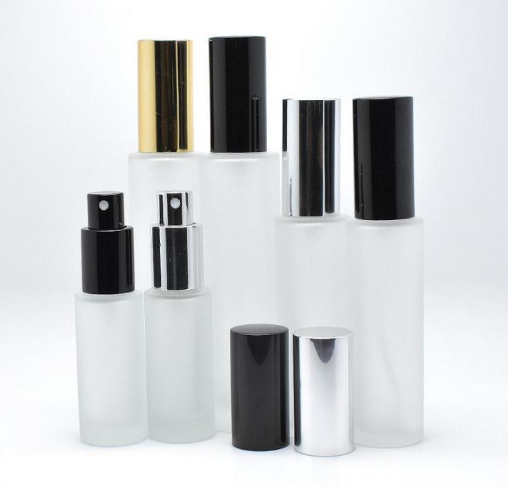 Şişe SN945 presleme 100pcs / çok 35 ml 50 ml buzlu cam sprey şişesi yüksek dereceli parfüm kozmetik sprey şişesi 35ml