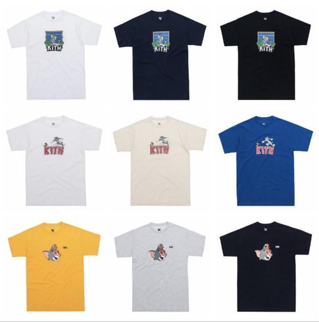 Kith Tom e Jerry T homem mulheres casuais mangas curtas t-shirt Vila Sésamo roupas L T da forma outwear tee partes superiores de qualidade