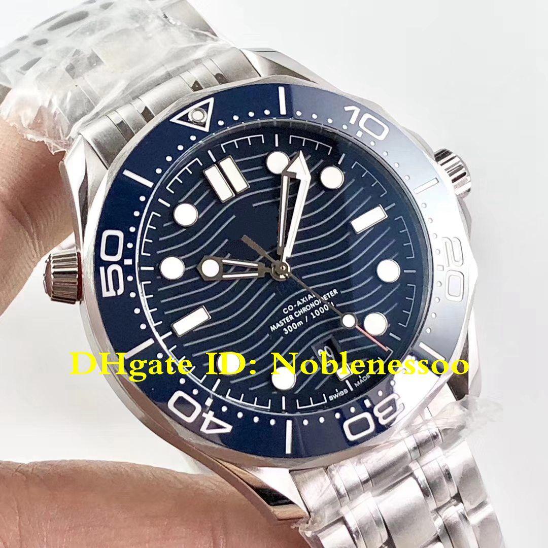 3 Color Mens Operatore Diver Co-assiale Master Chronometer 42mm Blue Dial Bracciale in acciaio OM Swiss Cal.8800 Movimento automatico Guarda gli orologi da uomo