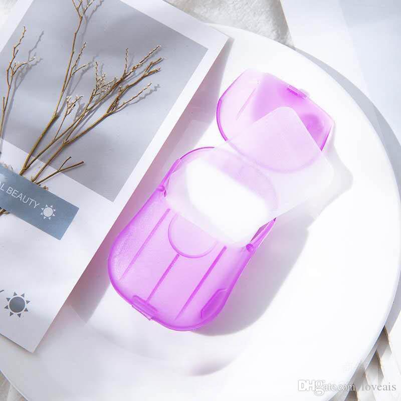 Disposable Boxed Soap Paper Portable Aromatherapy Hand Wash Bath Travel Mini Soap Box Soap Base Bathroom Accessories