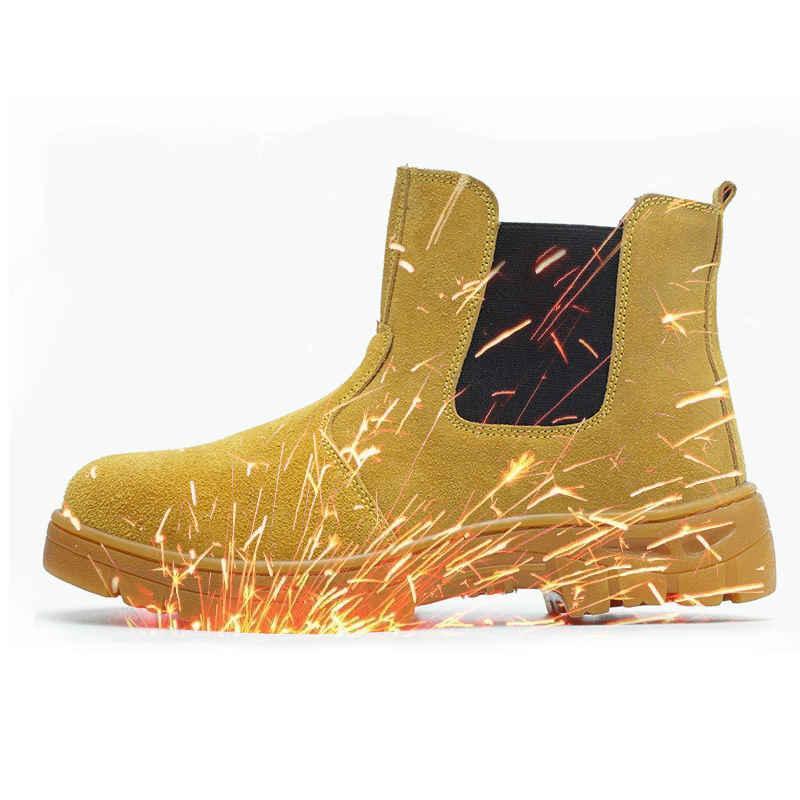 حار بيع أحذية الرجال العمل حذاء الصلب غطاء اصبع القدم مكافحة تحطيم المضادة للدروع الرجال متعددة الوظائف حماية الأحذية السلامة