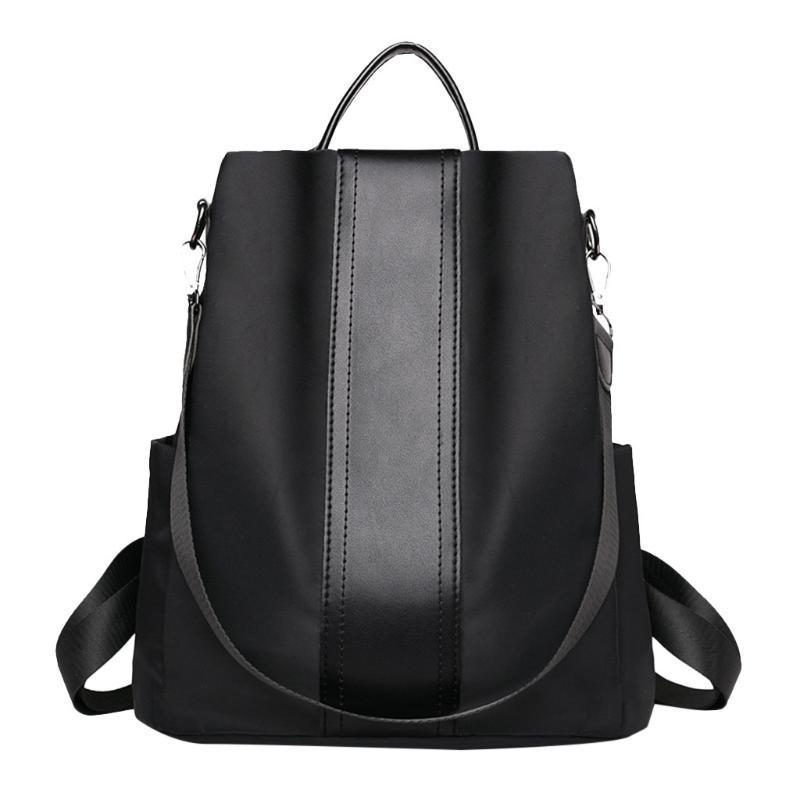 Frauen-Rucksack für Teenager-Mädchen-Leder-Tasche für College Einfache beiläufige Daypacks Mochila Weiblich Famous Brands Bookbag Anti-Diebstahl