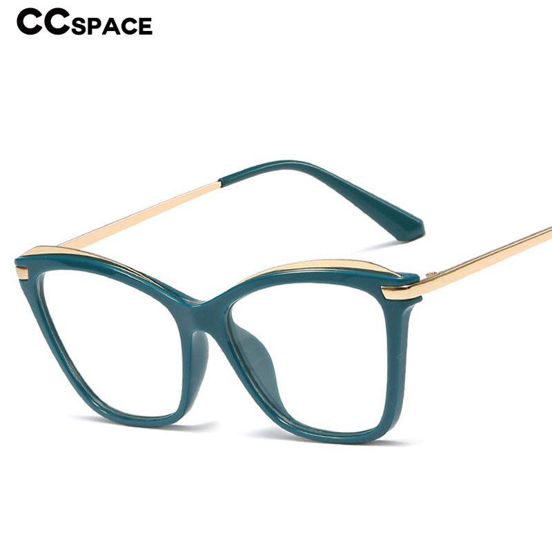 48115 Kunststoff Titanium Glas-Rahmen-Katzenaugen-Platz Retro Ultra Männer Frauen optische Art und Weise Computer-Brille