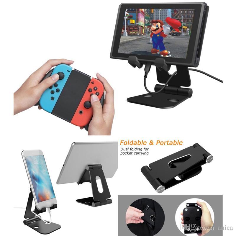Portable Desktop Cellphone Stand Mini Phone Holder Tablet Holder Slacker Stents Foldable Smartphone Bracket For Iphone Samsung Xiaomi Huawei