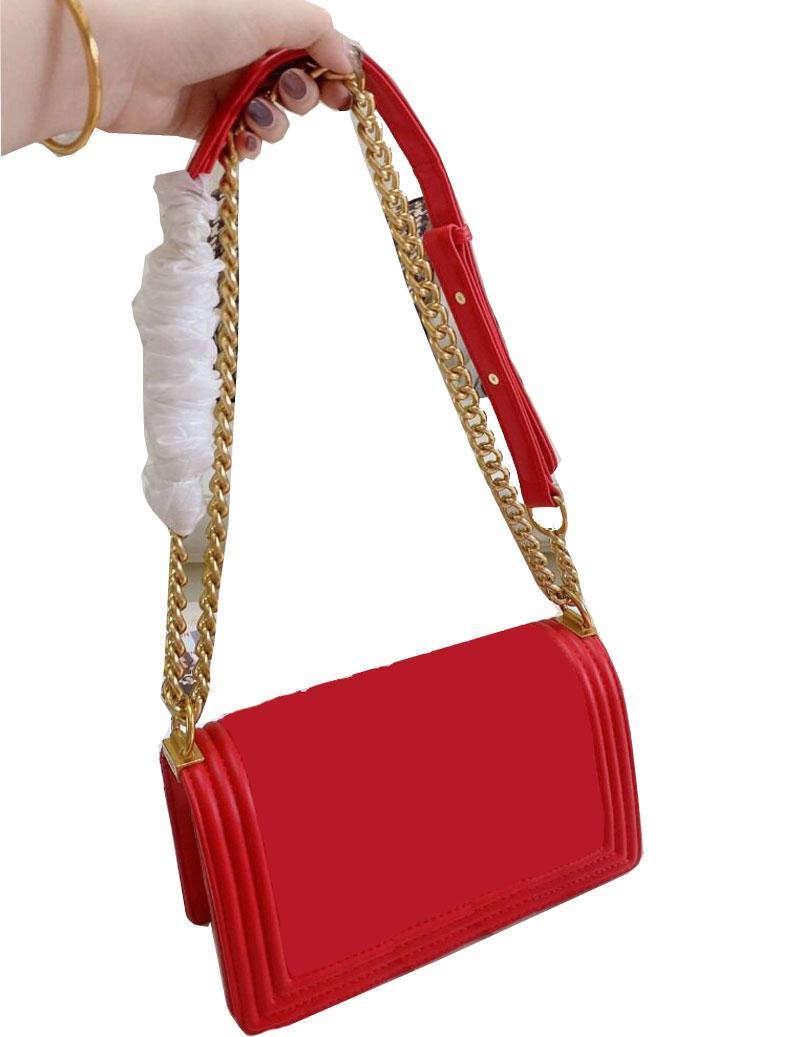 famosi di marca Classic Flap Borse del progettista delle donne Plaid alta qualità catena borsa di cuoio reale della borsa di Crossbody spalla Messenger Bag Satchel