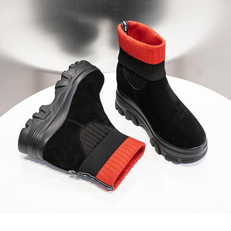 SHUNRUYAN mujeres nuevos zapatos de moda Vintage bota corta materiales de alta calidad tacones altos bota corta los tacones altos zapatos de las señoras