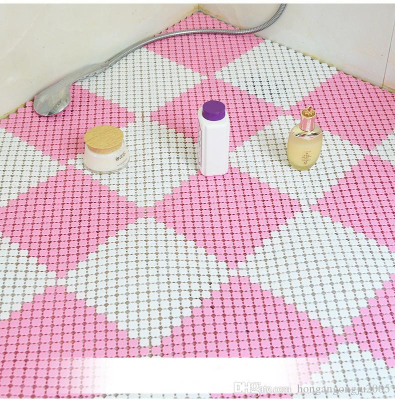 Banyo Halı Banyo Hidrofobikliği mozaik plastik su geçirmez yastık tuvalet drenaj kaymaz masaj mutfak antiskid paspaslar * 25cm 25cm