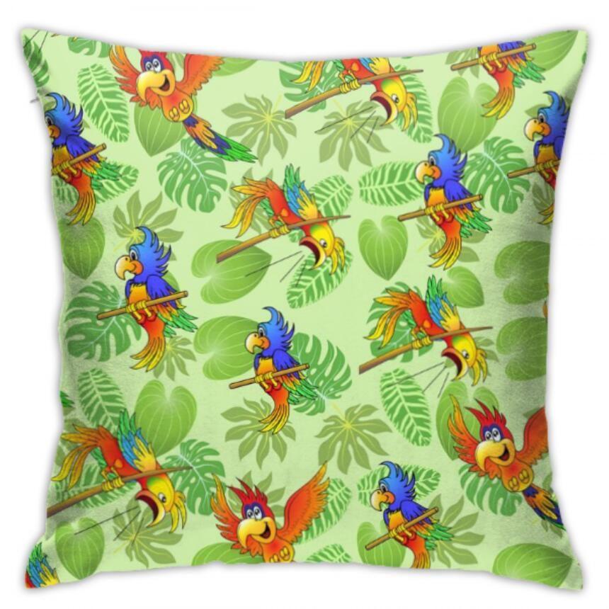 designer Home 45 * 45CM Home Sofa Throw Pillowcase Polyester Pillow Cover Cushion Cover Decor Pillow Case Blank leaves skull Square pig