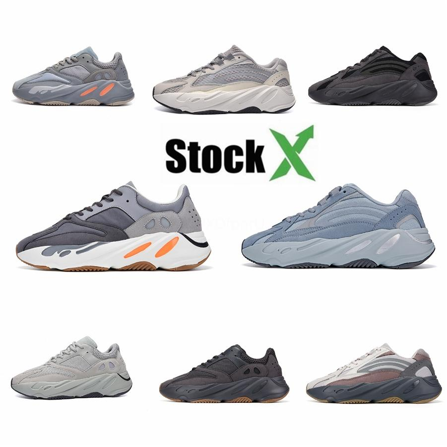 Geode 700 Wave Runner 700 V2 statique Mauve Kanye West Blanc Noir Hommes Femmes Sport Chaussures de course Designer Sneakers Taille 36-45 # DSK571