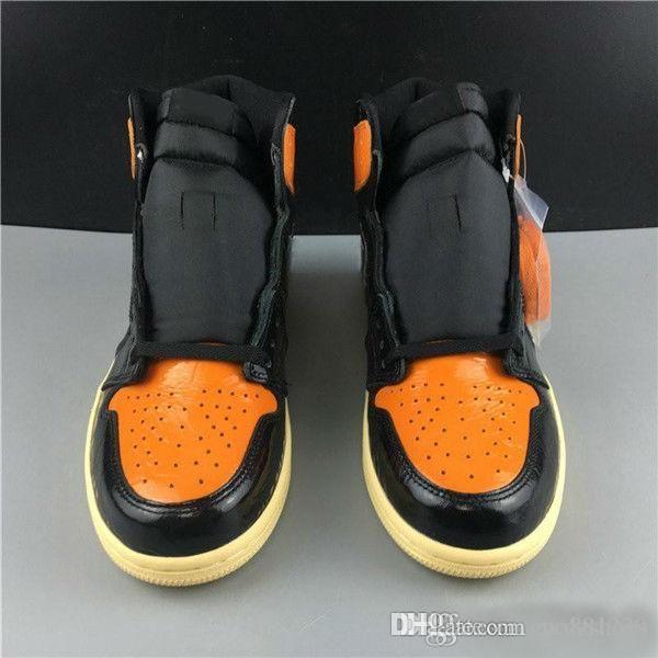 2019 Hot Venda 1 High OG quebrado Shoes encosto 3.0 Preto Laranja Basquetebol Homens Mulheres 1s sapatilhas esportivas