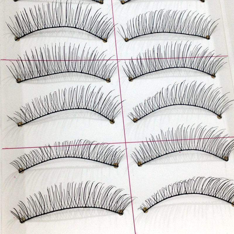 10 Pairs Natural Eyelashes Makeup Lashes Handmade False Eyelashes Wispy Eye Lash Eyelash Extension Fake Eyelashes Fashion