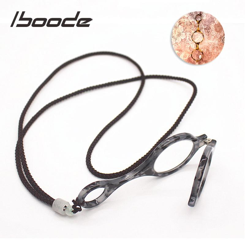 iboode Портативный складной Reading Glasses Женщины Мужчины Ретро Marble дальнозоркостью очки Складная висит шеи пресбиопии очки