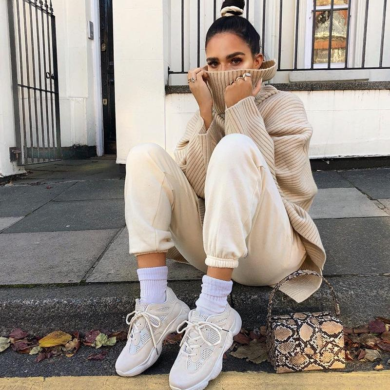 DWgMb 2019 gola solta celebridade manga longa e Top 1353 inverno casaco camisola coat ins outono Internet camisola top feminino