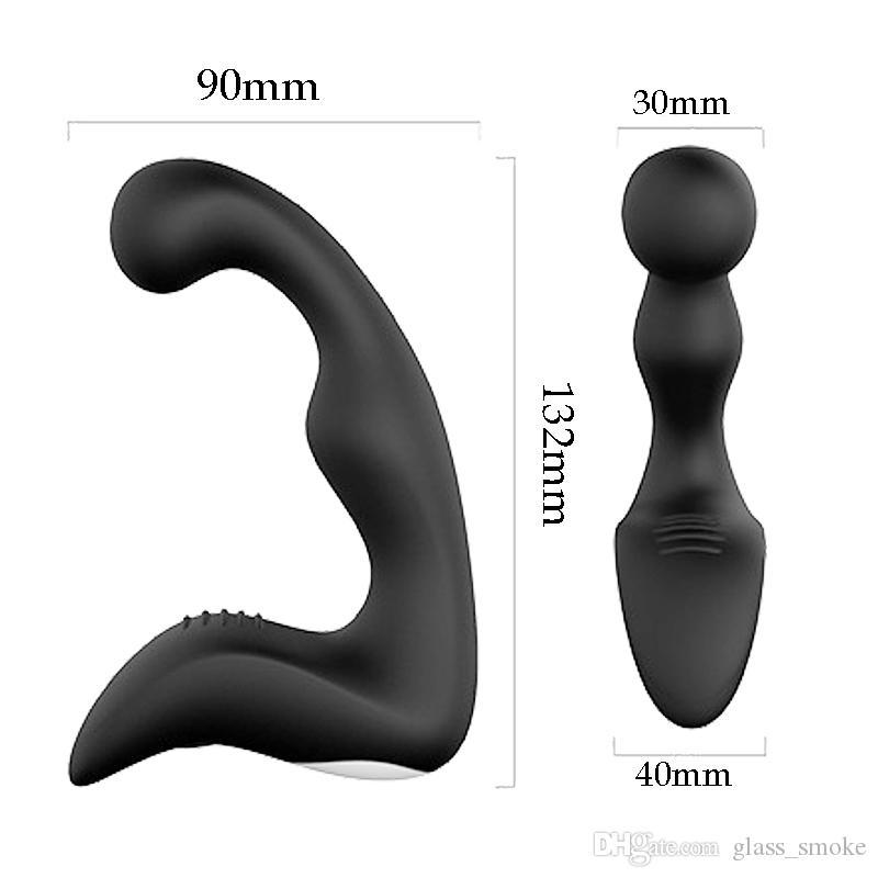 Hot Adult Sex Toys For Men Anal Plug Vibrator 10 Speeds Prostate Massage Silicone Butt Anal Vibrating Male Masturbator Erotic Toys