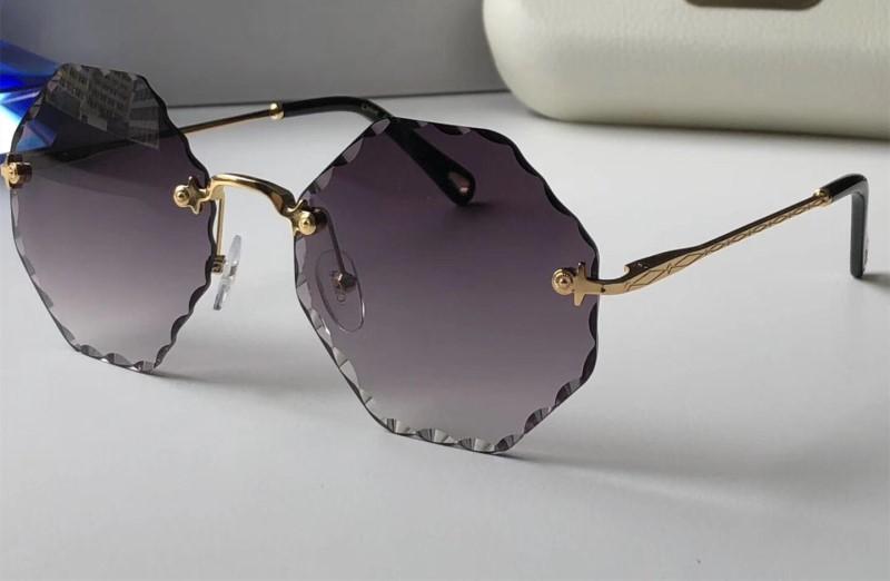 Großhandels-Sonnenbrillen für Frauen Deisnger Runde Full Frame UV400 Objektiv Sommer 132 Art Hexagon Rahmen klassischer Entwurf kommen mit Packag