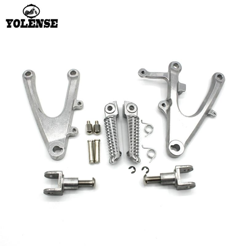 For YZF-R1 YZFR1 YZF R1 2004 2005 2006 Motorcycle Accessories Footrests Front Foot Pegs Pedals Rest Footpegs Bracket