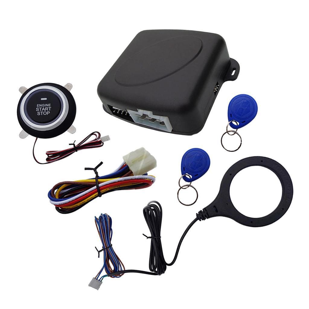 Coche sin llave de arranque del motor de arranque del sistema de alarma Push Button Remote Kit